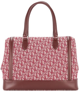 Christian Dior Pre Owned Trotter pattern Jumbo XL hand bag