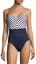 Tommy Bahama One-Piece Mitered Bandeau Swimsuit