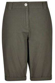 Dorothy Perkins Womens Khaki Cotton Shorts