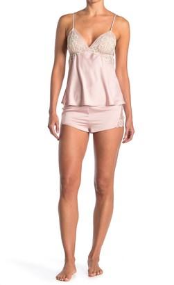 Flora Nikrooz Sleepwear Rosa Charm Cami & Shorts 2-Piece Pajama Set