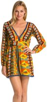 Indah Adila Long Sleeve Mini Hippie Cover Up Dress 8132248