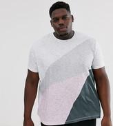 Burton Menswear Big & Tall t-shirt with splicing in pink