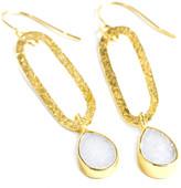 Nina Nguyen Jewelry - Legend White Druzy Vermeil Earrings