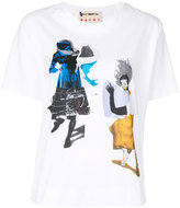 Marni abstract figurine T-shirt - women - Cotton - 38