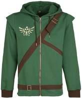 Nintendo Official Mens Legend of Zelda Cosplay Link Zip Up Hoodie Sweater - New