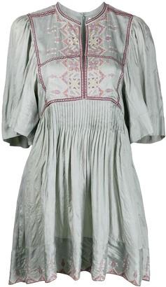 Etoile Isabel Marant Geometric Embroidered Short Dress
