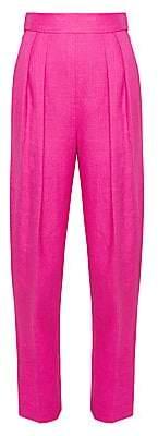 Theory Women's High-Waist Pleated Linen Pants - Size 0