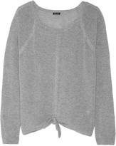 Splendid Tie-front open-knit sweater