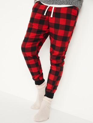 Old Navy Patterned Flannel Jogger Pajama Pants for Men