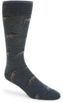 Lorenzo Uomo Men's Moose Socks