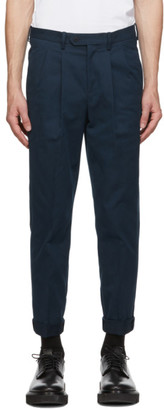 Neil Barrett Navy Microweave Cotton Trousers
