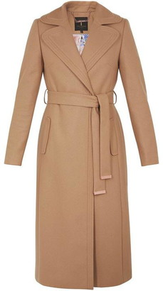 Ted Baker Wide Collar Long Wool Coat