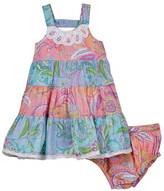 Mimi & Maggie Peek A Boo Dress & Bottom Set (Baby & Toddler Girls)