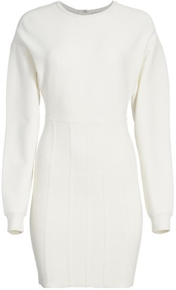 Herve Leger Puff-Sleeve Sweater Dress
