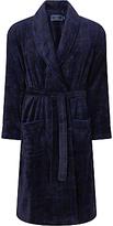 John Lewis Check Fleece Robe