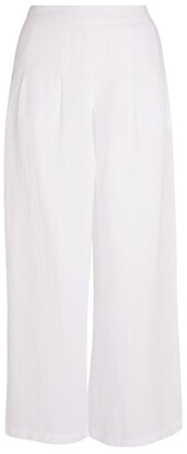 120% Lino Cropped Wide-Leg Trousers