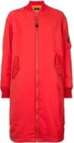 G.V.G.V. zipped long bomber jacket