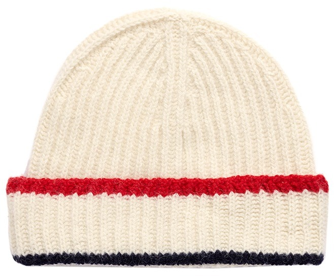 MAISON KITSUNÉ Baby alpaca-Merino wool knit beanie