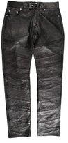Saint Laurent Leather Moto Pants