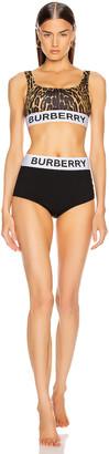 Burberry Tarn Two Piece Swimsuit in Dark Mustard | FWRD