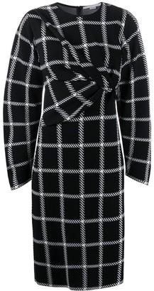 Stella McCartney Checked Ruched Midi Dress