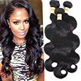 Connie Hair 6A Brazilian Body Wave 3 Bundles 22 24 26inch Unprocessed Brazilian weave hair human bundles Natural Black Color Total 300g