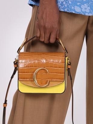 Chloé Mini C Box Bag, Joyful Yellow