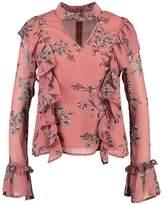 Endless Rose CHOKER WITH PRINT Blouse azalea floral