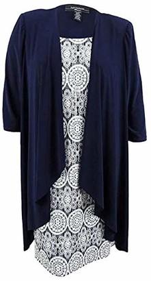 R & M Richards R&M Richards Women's 2 PCE Plus Size Day to Dinner Jacket Dress