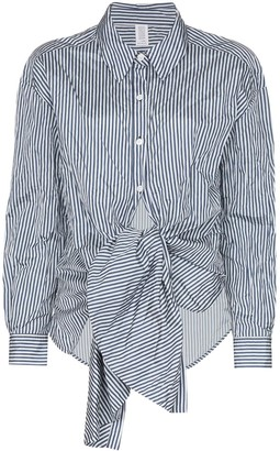 Rosie Assoulin Tie-Waist Striped Shirt