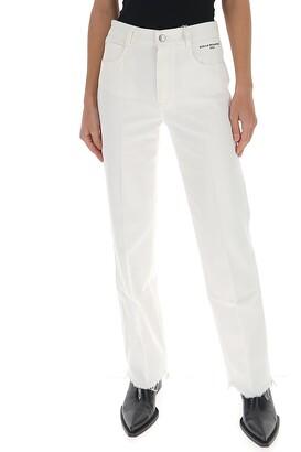 Stella McCartney Frayed Hem Straight Fit Jeans