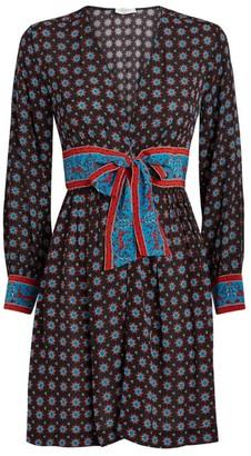 Sandro Paris Silk Mini Dress