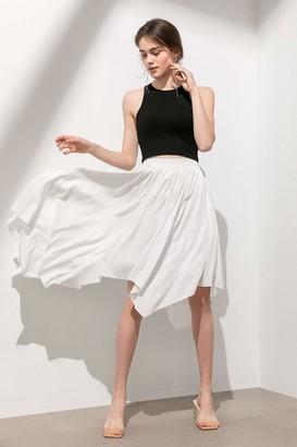 J.ING Helena Ivory Handkerchief Midi Skirt