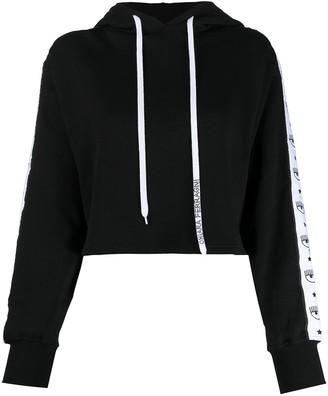 Chiara Ferragni Cropped Drawstring Sweatshirt