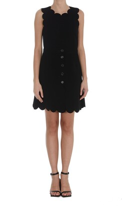 RED Valentino Scallop Detailed Sleeveless Dress