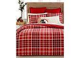 Martha Stewart Winter Tartan Red Plaid Twin Duvet Comforter Cover