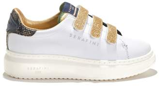 Serafini Jimmy Connors Sequin Trainers in Leather Mix