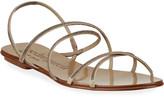 Pedro Garcia Esme Crystal Multi-Strap Flat Sandals