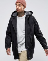 Asos Parka Jacket With Removable Fleece Lining In Black