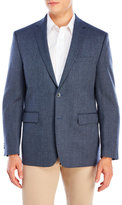 Vince Camuto Blue Pindot Wool Sport Coat