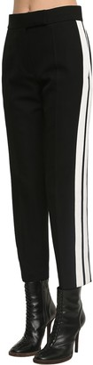 Haider Ackermann Wool Crepe High Waist Straight Leg Pant