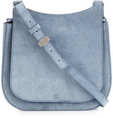 The Row Suede Hunting 9 Shoulder Bag, Blue