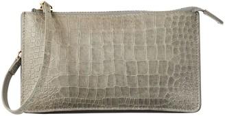 Vash Polaris Flat Wallet Clutch In Grey Croc