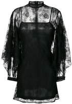 Christopher Kane rag lace sleeve mini dress