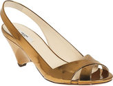 PRADA Demi-Wedge Slingback - Bronze
