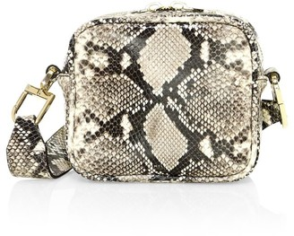 DeMellier Athens Snakeskin-Embossed Leather Crossbody Bag