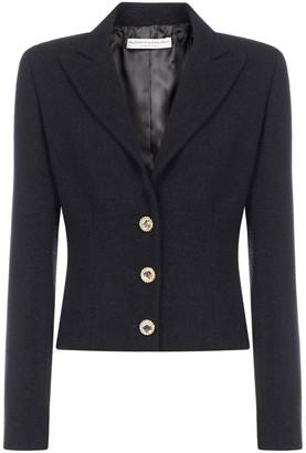 Alessandra Rich Crystal Button Tailored Blazer