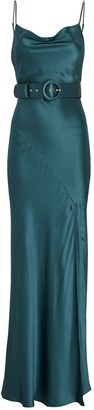 Nicholas Simone Belted Silk Slip Dress