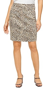 7 For All Mankind Leopard Print Pencil Skirt