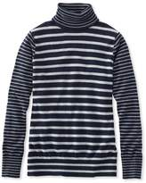 L.L. Bean L.L.Bean Cotton/Cashmere Sweater, Turtleneck Stripe